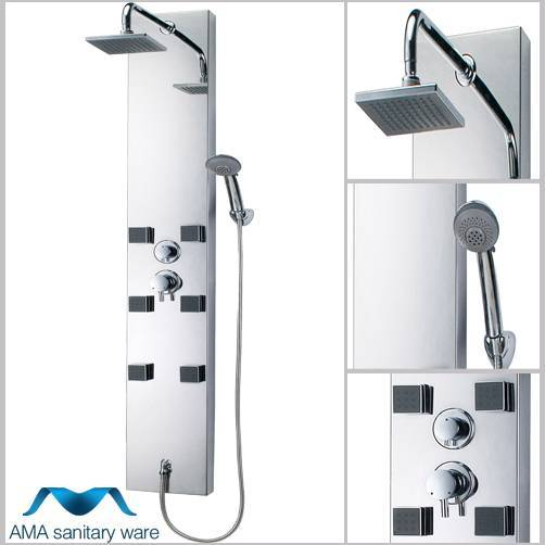 AMA-6403 stainless steel shower panel/message shower room panel