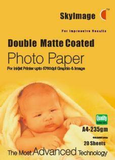 235g Inkjet Double Side Matte Coated Photo Paper
