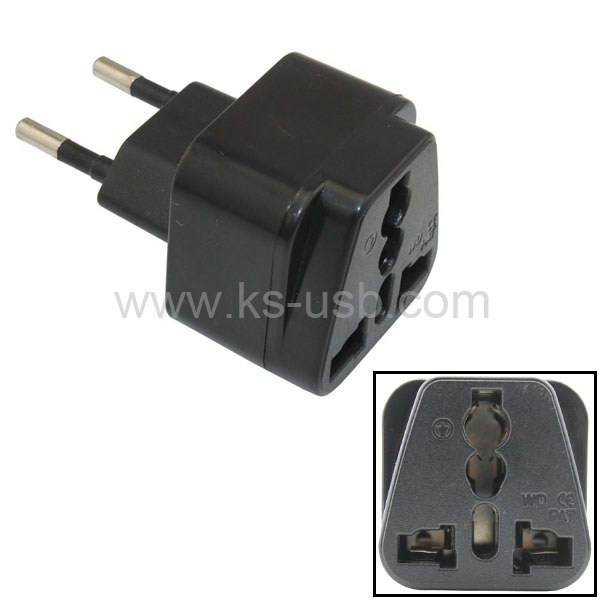 EU Travel Adapter AC Power Plug Convert AU US UK to EU Plug