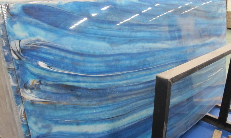 Light Artificial Onyx Stone Coumtertops