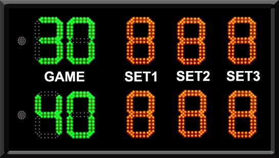 electronic digital tennis scoreboard,