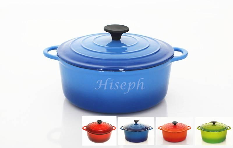 Enmael cast iron cookware set casserol pan