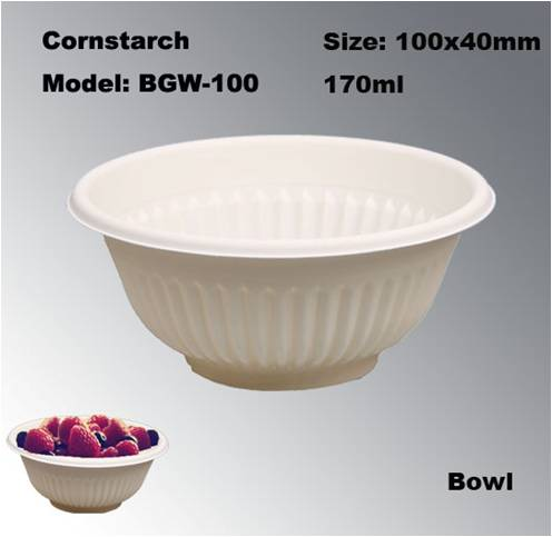 Biodegradable Eco-friendly Disposable Compostable Dessert Bowl