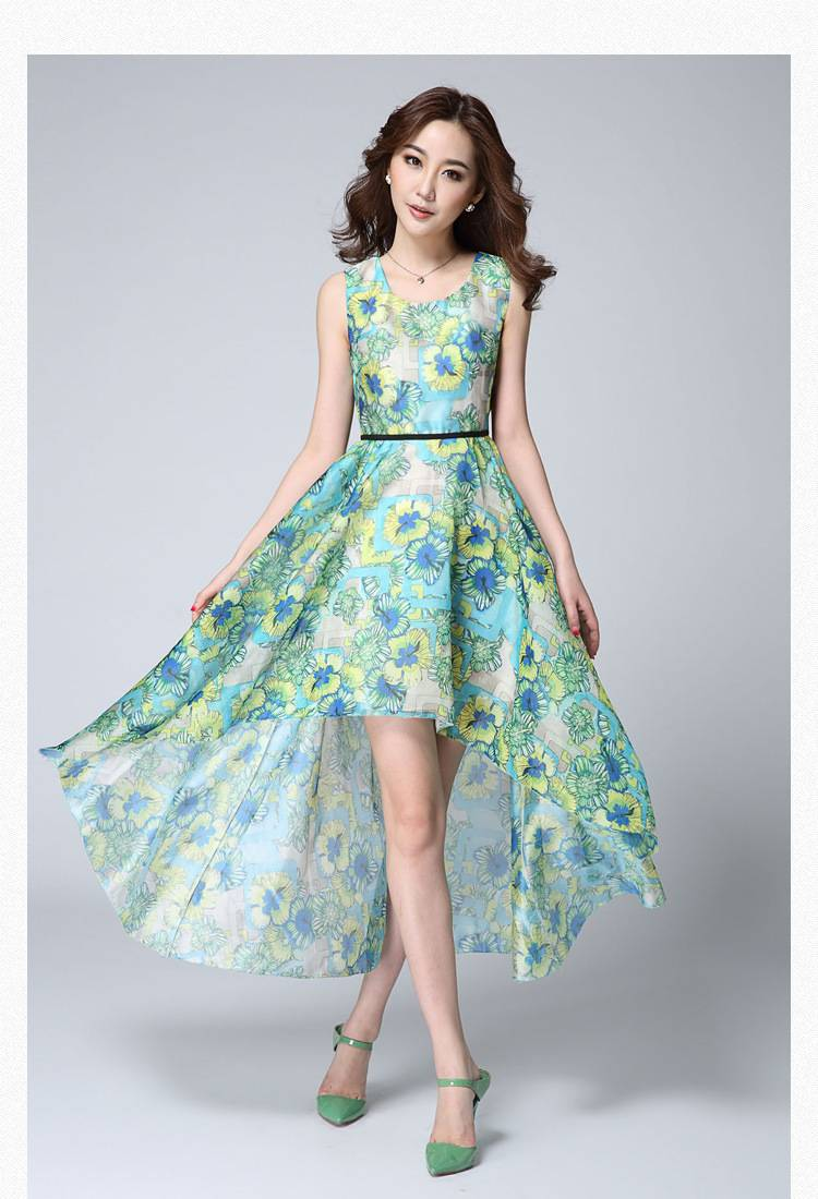 Chiffon print dress