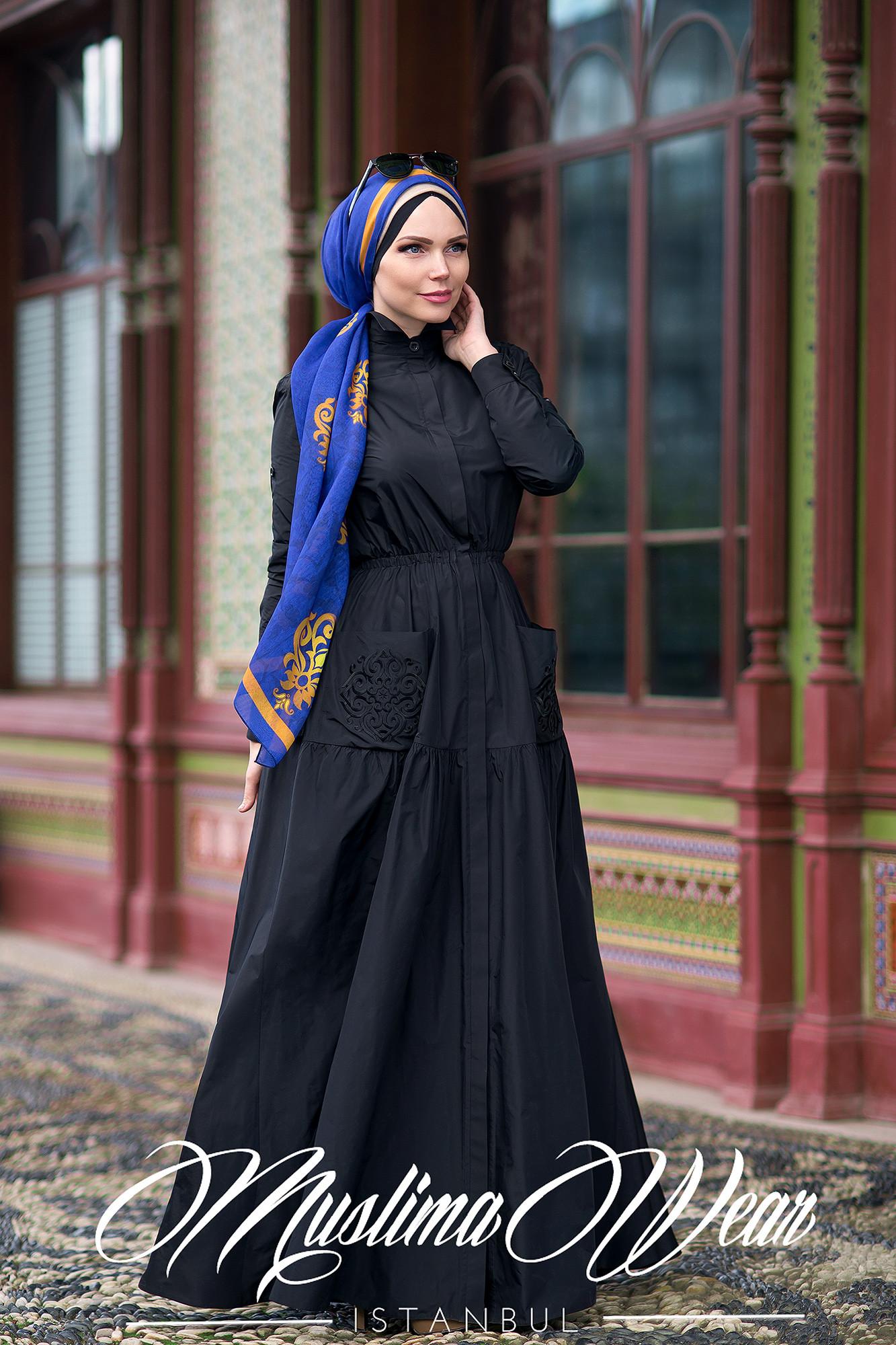 Muslima Wear Blazer Dress Black