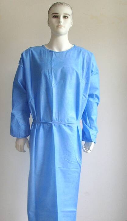 Disposable SMS Surgical Gown/Disposable Medical Protective Gown/ Isolation Gowns