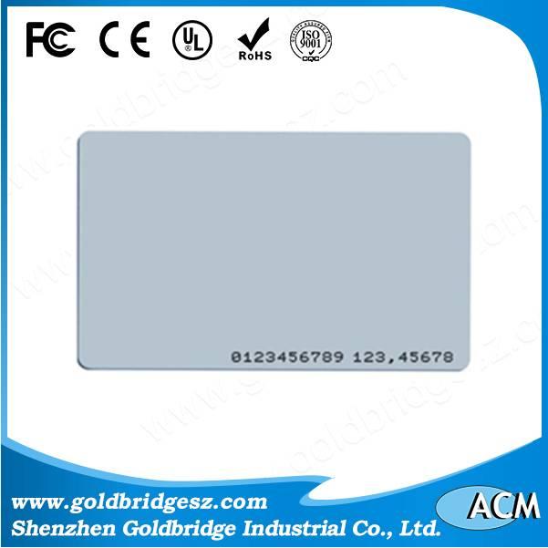 China Top Ten Selling Printalbe ISO PVC Proximity 125Khz rfid TK4100 EM4200 ID Smart card