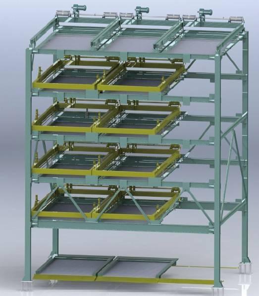 6-layer Horizontal shifting mechanical parking system PSH-6