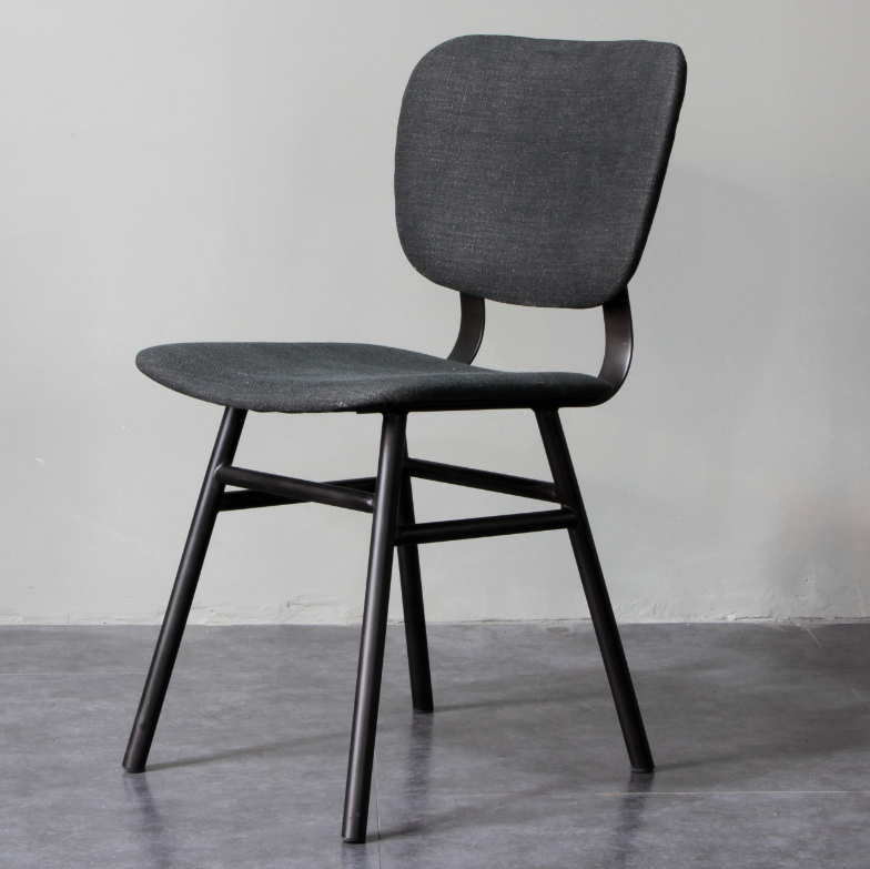 Metal Frame PU Upholstery Dining Chair