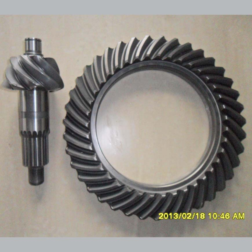 Factory Direct Supply Carbon Steel Spiral Bevel Gear Pair For Construction Machinery