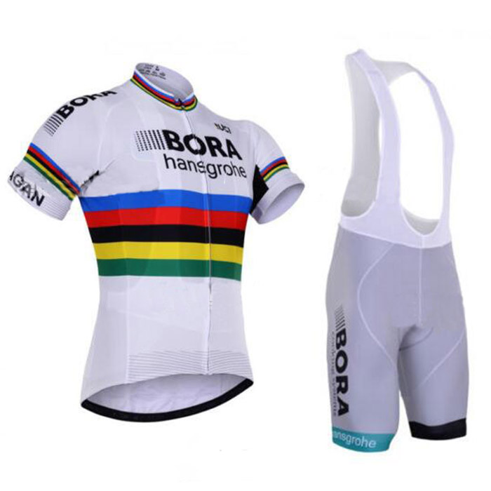 2017 Bora Hansgrohe Cycling Jersey Maillot Ciclismo Short Sleeve and Cycling bib Shorts