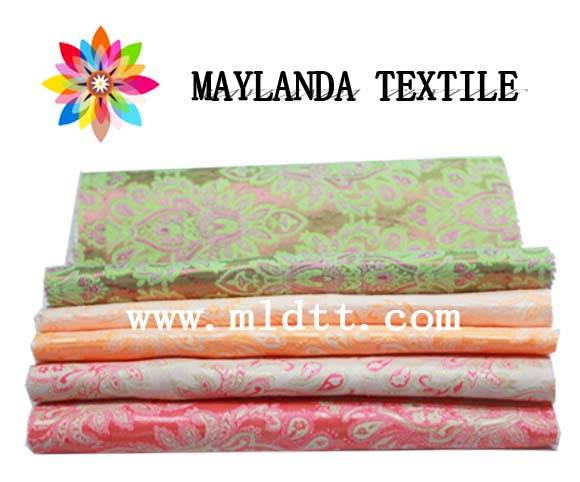 Maylanda Textile 2016 Factory for Women's Cloth, New Style Color Yarn Jacquard Fabrics