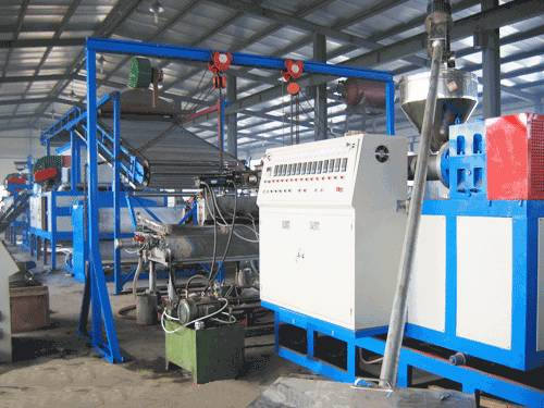 PVC Spray silk carpet procuction line