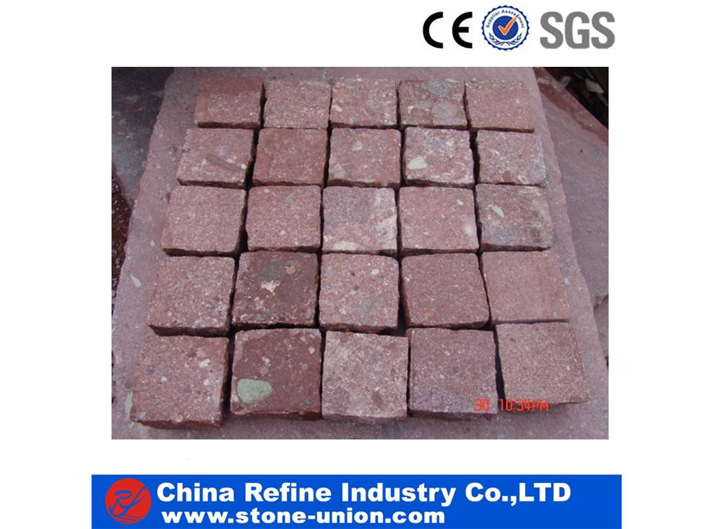 landscaping red granite paving stone