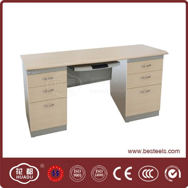 commercial use huadu brand new year hot selling Metal executive desk for sale(side drawers)