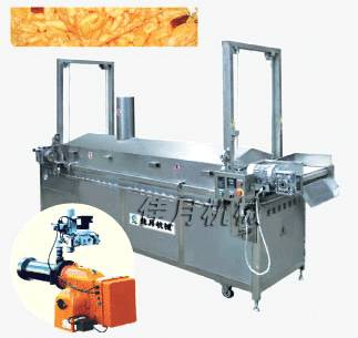 automatic frying machine for puffed food