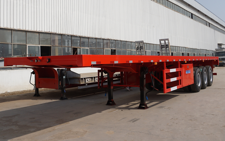 3 kinds of suspensions for container flat bed semi trailer