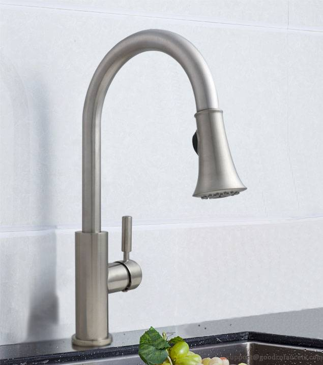 Brass modern pull down Kitchen Faucet