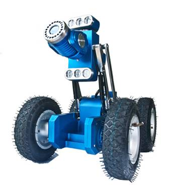 TVS-15 Six-Wheeled Drive Robotic Crawler Pipe Camera
