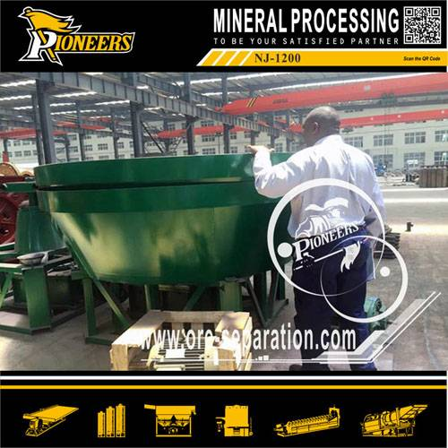 NJ series wet pan mill for gold selection