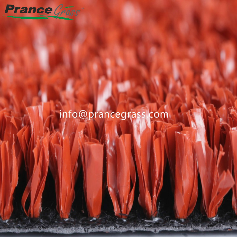 Red Color Artificial Grass for Tennis Court