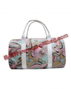 floral printing polyester fiber duffel travel bag