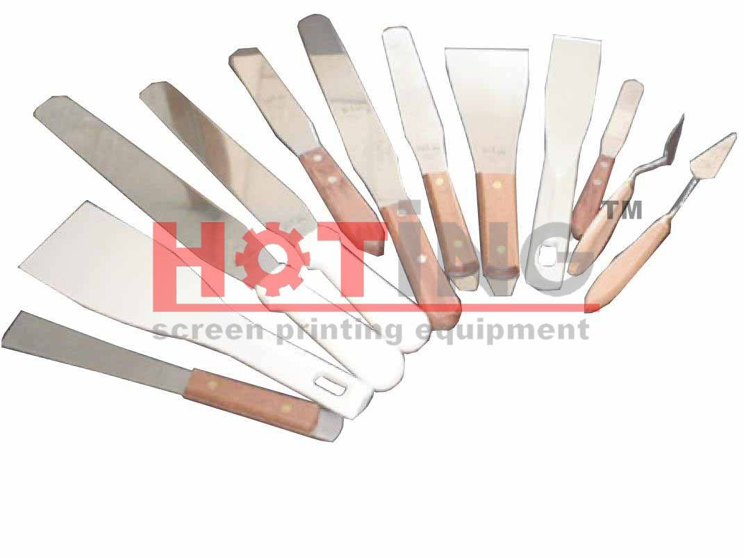 Stainless steel ink spatulas
