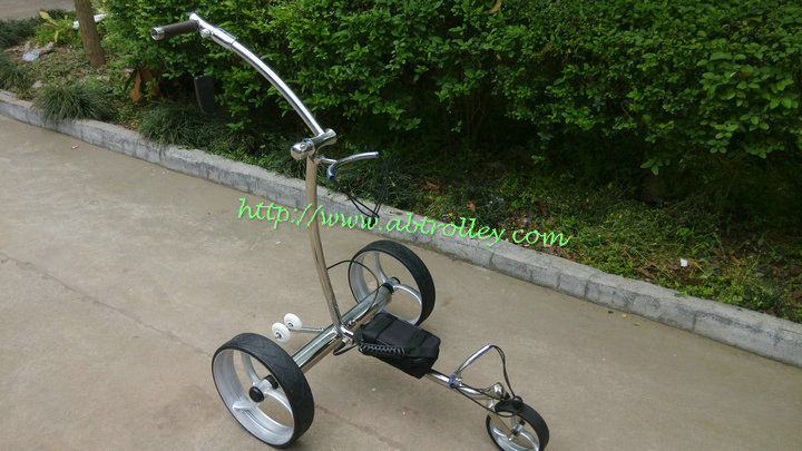 2014 High Grade Stainless steel golf buggy with double brushless motors