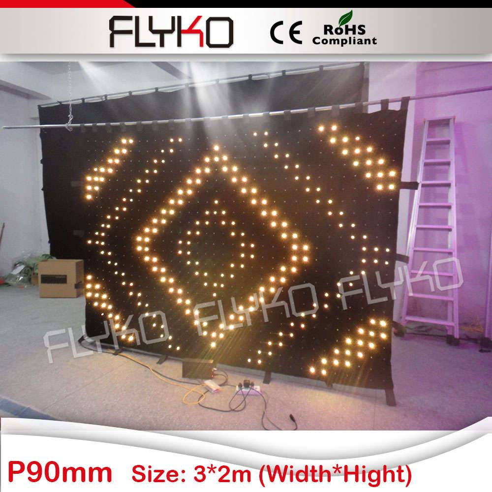Pro LED stage video curtain P9 2x3m
