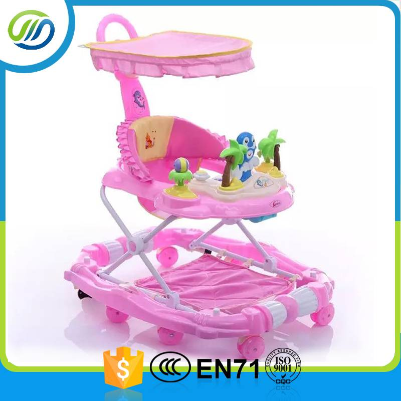 Fashional canopy design baby walker
