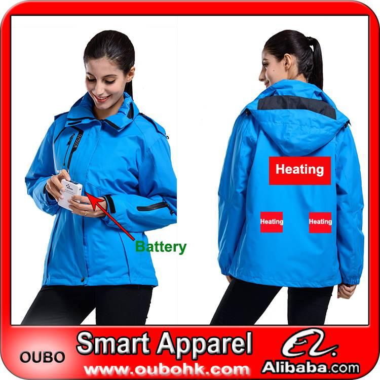 Women coat, women jacket, lady fashon clothing,with battery system heating clothing warm OUBOHK