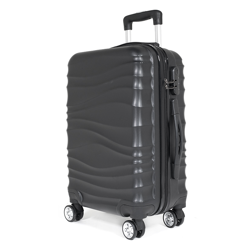 New design hot sale trolley luggage bags ripple luggage sets suitcase for sale