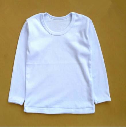 High quality children comfortable combed cotton lomngh sleeve T-shirt