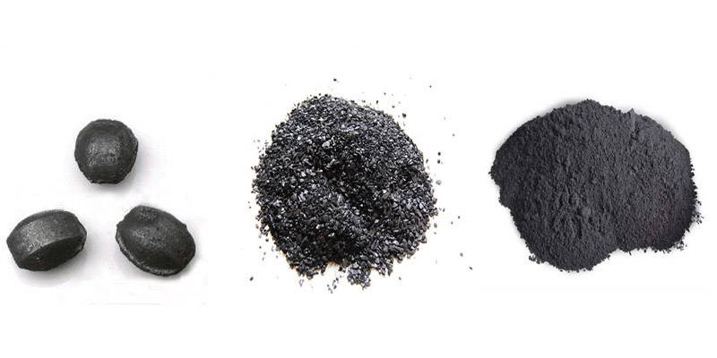 Amorphous graphite powder for casting