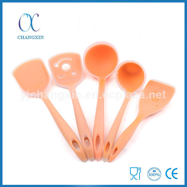 Hot Selling High Quality 5pcs Silicone Kitchen Ware Set