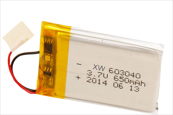 XW 603040 3.7V 650mAh Li-ion polymer battery