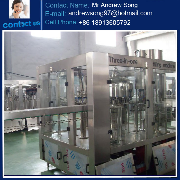 Automatic 3-in-1 bottled water filling machine / water bottling line