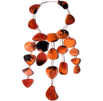 Horn Necklace With Dyed Colour Horn