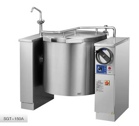 Chinducs Manual Electric Tilting Boiling Kettle