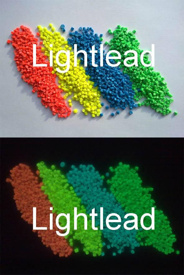 Glow in the dark plastic resin