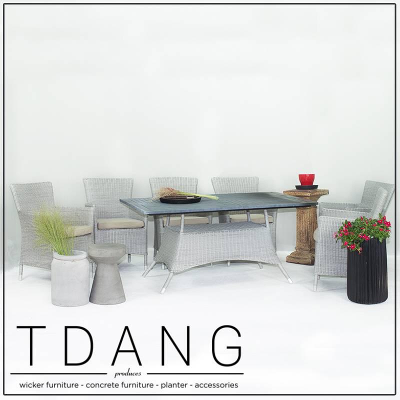 Pasadena 7 Piece Dining Set - Grey (Code TD1007)