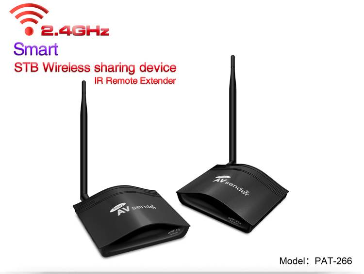 2.4GHz Smart Long Range Wireless AV Sender/Audio Video Transmitter Receiver with TWO Group AV Input