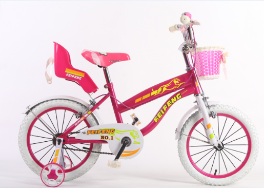 Pink girl baby toy bike lovevly style children bicycle 16 inch with basket and baby seat