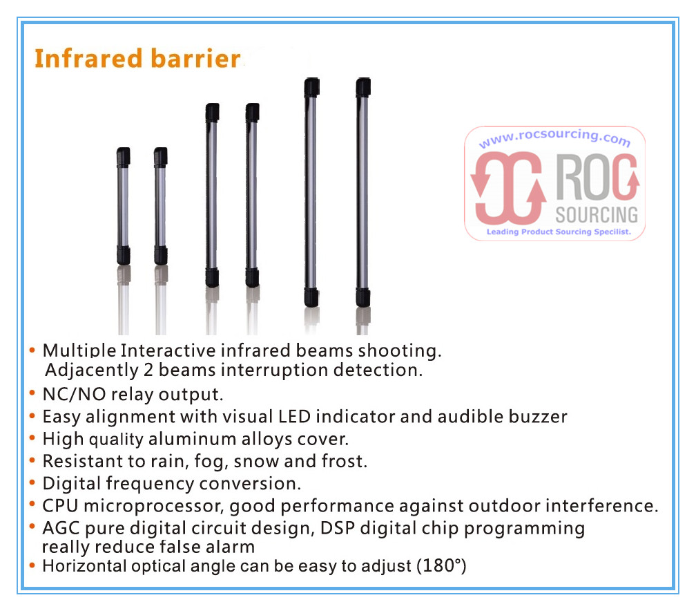 Waterproof Security Active Infrared Berrier Detector Sensor for Perimeter Protection Alarm System