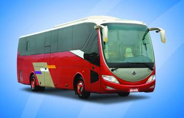 China's First CNG/DIESEL Dual Fuel Luxury Coach, tourist bus, transportation bus