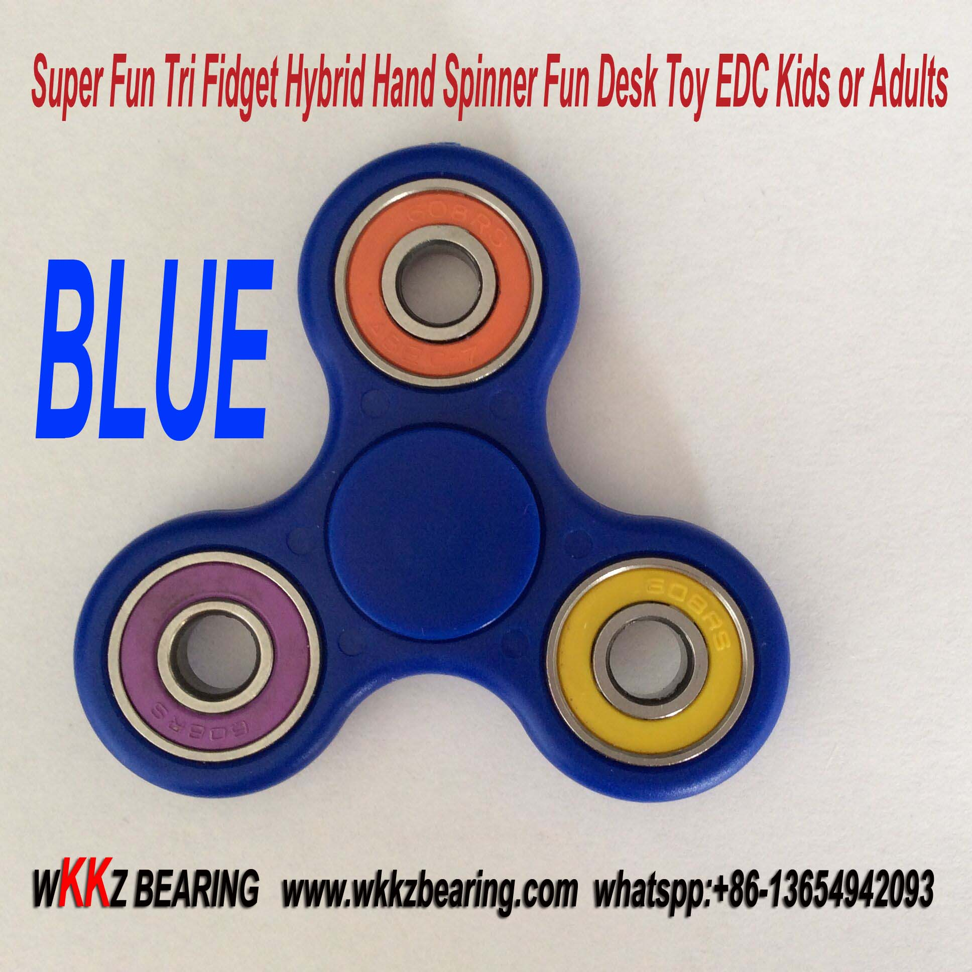 Super Fun Tri Fidget Hybrid Hand Spinner Fun Desk Toy EDC Kids or Adults