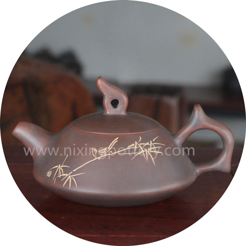 200cc Hand Painting Tea Pot Set Nixing Pottery He Huan Teapot