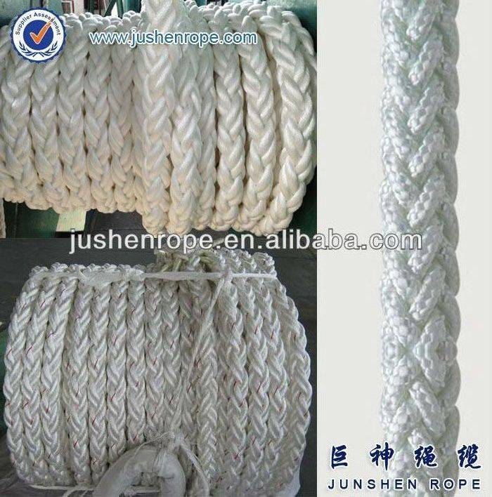 8 strand polypropylene and polyester mixed rope