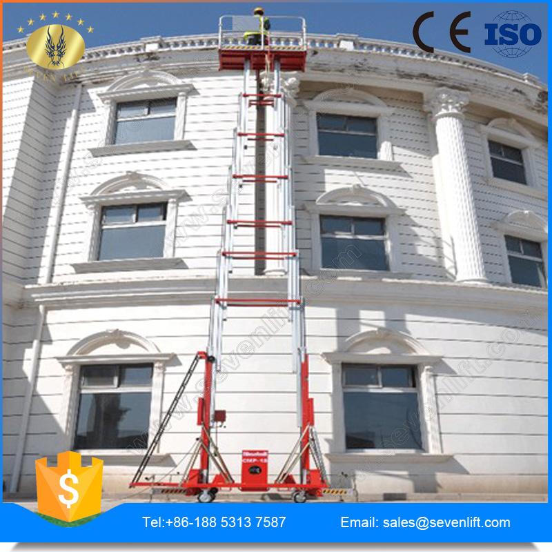 7LSJLII Shandong SevenLift aluminum outdoor two mast articulating ladder manufacturers