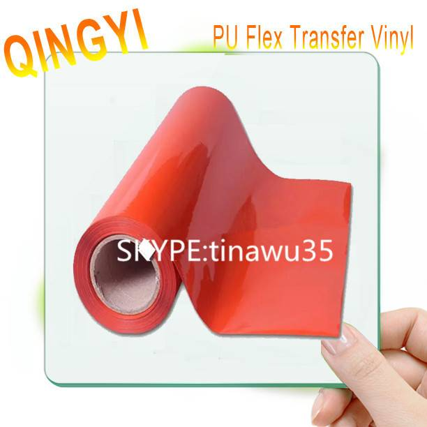 Qingyi Wholesale high-elastic PU orange heat transfer vinyl for t-shirt